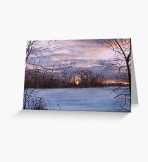 Sunset Over Pembina River Greeting Card
