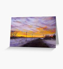 Winter Sunset by Neche Greeting Card