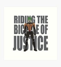 The bycicle of justice Art Print