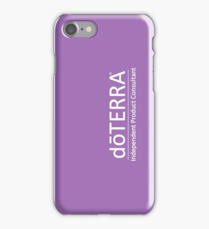 doTerra independent product consultant hvid iPhone Case/Skin
