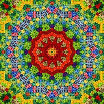 Lego, Mandala, Pixel Art, diseño colorido, patrón, ladrillo, estructura, de boom-art
