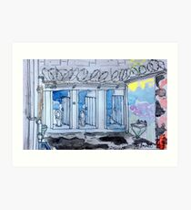 Gaol Loo Watercolour Art Print