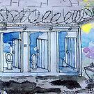 Gaol Loo Watercolour by Jay Brushett