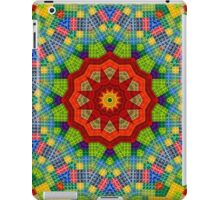 Lego, Mandala, Pixel Art, Colorful Design, Pattern, Brick, Build, iPad Case/Skin