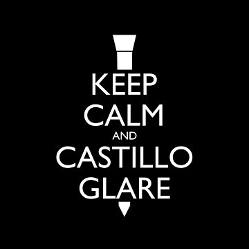 Keep Calm and Castillo Glare Pillow (black) by olmosperfect