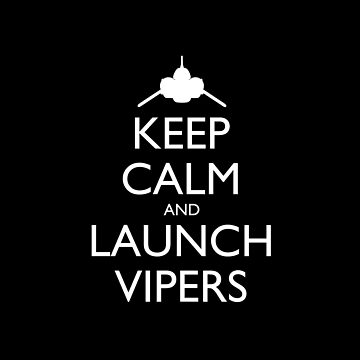 Keep Calm and Launch Vipers Pillow (black) by olmosperfect
