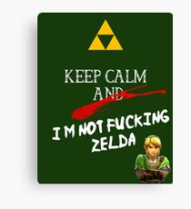 NOT ZELDA Canvas Print