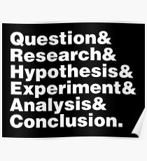 Scientific Method Helvetica Poster