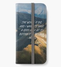 The world is big iPhone Wallet/Case/Skin