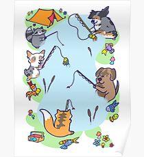 Dog gone Fishin' Poster