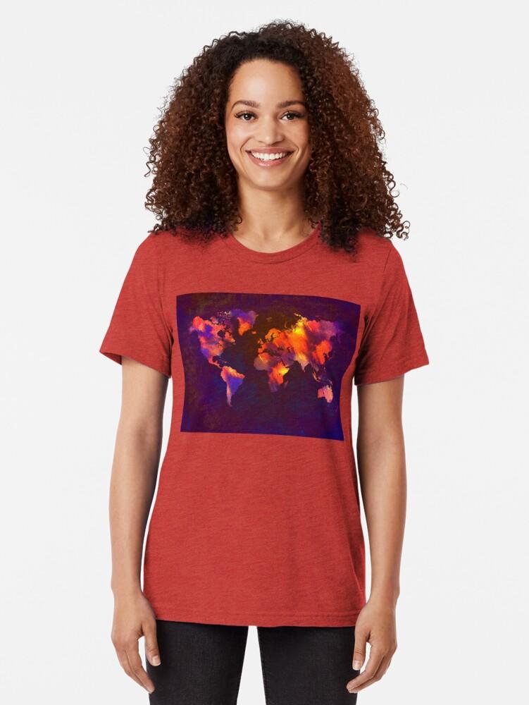 Alternative Ansicht von Weltkarte Vintage T-Shirt