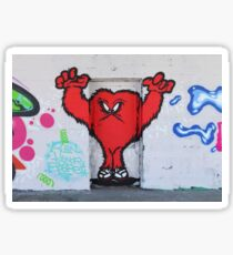 Cute Red Hairy Monster Sticker
