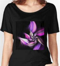 Purple Flower - Abstract Fractal Artwork Women's Relaxed Fit T-Shirt