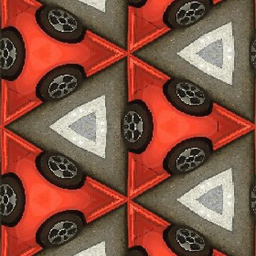 Red Car Pattern by JNathan