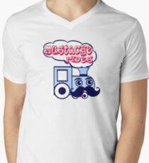 Mustache Rides Mens V-Neck T-Shirt