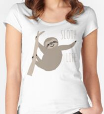Happy Lazy Sloth - Sloth Life Women's Fitted Scoop T-Shirt