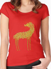 Tree horse with sunburst Women's Fitted Scoop T-Shirt