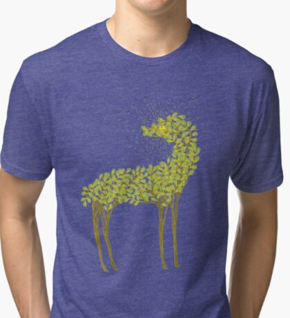 Tree horse with sunburst Tri-blend T-Shirt