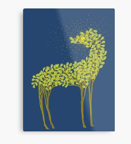 Tree horse with sunburst Metal Print