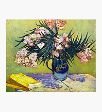 'Still Life with Oleander' by Vincent Van Gogh (Reproduction) Photographic Print