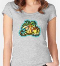 Rio de Janeiro, Brazil, Waves, Palm, Sun Women's Fitted Scoop T-Shirt