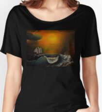 Sunset at the rocky shore Women's Relaxed Fit T-Shirt