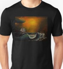 Sunset at the rocky shore T-Shirt