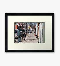 The Man In The Sidewalk In The Junction Framed Print