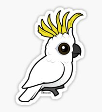 Cute Sulphur-crested Cockatoo by Birdorable Sticker