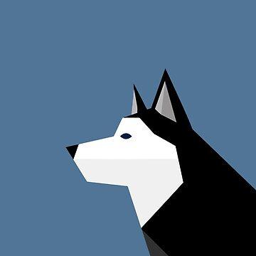 Geometric Husky by LM09