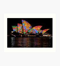 Vivid 2016 Opera House 39 Art Print