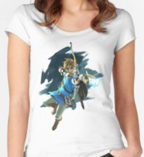 Zelda Breath of the Wild Archer Link Women's Fitted Scoop T-Shirt