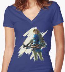 Zelda Breath of the Wild Archer Link 2 Women's Fitted V-Neck T-Shirt