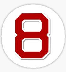 #8 Retired Sticker