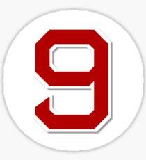 #9 Retired Sticker