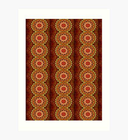 Terracotta Pattern Art Print