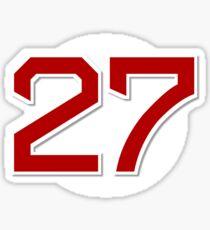 #27 Retired Sticker