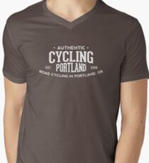 Authentic Cycling Portland Men's V-Neck T-Shirt