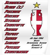 Denmark Euro 1992 Winners Poster
