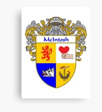 McIntosh Coat of Arms/Family Crest Canvas Print