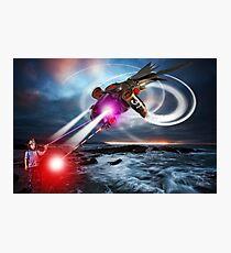 RayGun Rex v Aerial Terminator Photographic Print