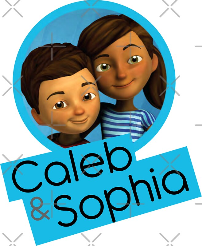 Quot Caleb And Sophia Circle Blue Quot Stickers By Jw Stuff