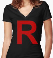 Team Rocket - Jessie and James Women's Fitted V-Neck T-Shirt