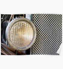 Old Model T Headlight and Radiator Poster
