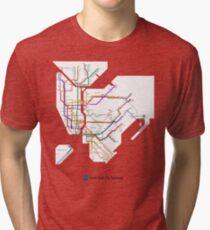 new york subway Tri-blend T-Shirt