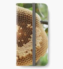 Bees on honycomb iPhone Wallet/Case/Skin
