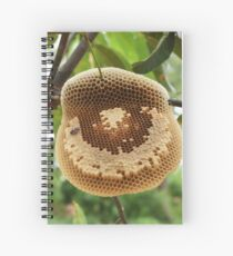 Bees on honycomb Spiral Notebook