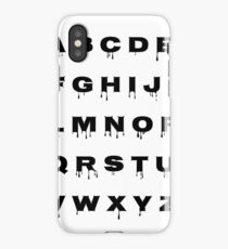 Alphabet - Spooky iPhone Case/Skin