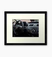 Mazdaspeed 3 Steering Wheel Framed Print