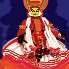 Painting of Kathakali Dancer by debopriyaa